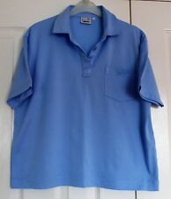 Ladies 'First Avenue' Blue Short Sleeved Top, Collared, Size 12