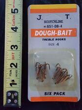 Scotchline 6-pack of Dough-Bait Treble Hooks size 4