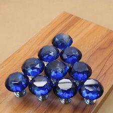 10Pcs Crystal Diamond Shape Glass Drawer Pull Handle Kitchen Cabinet Door Knob