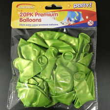 20pk Solid Lime Green Color Balloons 23cm Latex Round Kids Adults Party Birthday