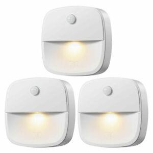 3*PIR Infrared Wireless Night Light Motion Sensor Battery Cabinet Stair Light