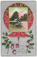 """Vintage Postcard """"A Merry Christmas"""" Posted 1911, Embossed."""