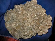 CALCITE CRYSTAL CLUSTER EXCELLENT SPECIMEN OF CALCITE CRYSTALS ON PLATE OF CALCI