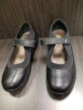 9.5N DREW Women's Black Leather Diabetic Mary Jane Shoes