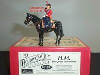 BRITAINS 40197 HM QUEEN ELIZABETH II MOUNTED ON BURMESE METAL TOY SOLDIER SET
