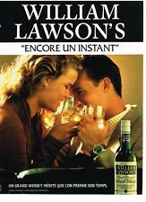 PUBLICITE ADVERTISING   1999   WILLIAM LAWSON    WHISKY ALCOOL