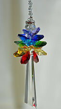 Large 90mm Hanging Crystal Guardian Angel rearview mirror car charm baby shower