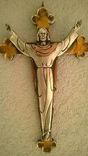 RISEN JESUS CHRIST CHRISTIAN HANGING WALL CROSS CRUCIFIX 12.2''