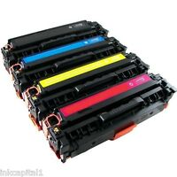 4 x Colour Laser Jet Toners Non-OEM For HP Printer CM1312, CM 1312 - 125A