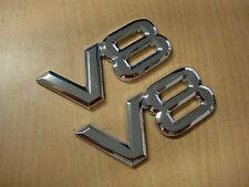 V8 badge / emblem sticker chrome Holden HSV, Ford, 4WD X 2