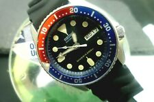 Mens 38mm SEIKO 200m Diver Automatic 7S26-0030 Black & Pepsi SKX013 Watch