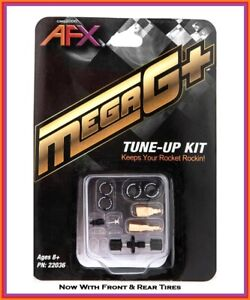 AFX Mega G + Chassis Tune-Up Kit Pickup Shoes, Axle, Springs & Tires Fits Tomy