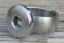 Click  BUTTON   EDELSTAHL  RING Für Chunksysteme   Gr. 16 mm