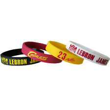 LEBRON JAMES CAVALIERS RUBBER BRACELET SET (4pc) ~ NBA Birthday Party Supplies