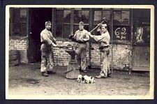 Carte Postale Photo RPPC MILITAIRES SOLDATS du 106ème Régiment Feronnerie