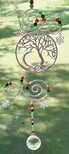 TREE OF LIFE WIRE HANGING CRYSTAL Wicca Witch Pagan Goth SUNCATCHER