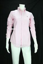 Polo Ralph Lauren Womens Large Blouse Shirt Pink Rose Custom Fit Oxford
