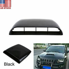 1x Universal Car Decorative Air Flow Intake Hood Scoop Bonnet Vent Cover Black