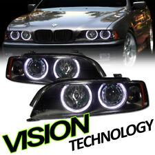 Black Halo Projector Headlight Headlamps Parking Lamp Amber Ks For 97-03 BMW E39