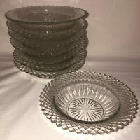 """8 Anchor Hocking MISS AMERICA CRYSTAL *6 1/4"""" CEREAL BOWLS*"""