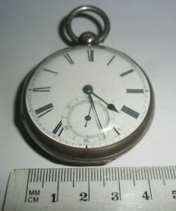 Antique verge fusee R&G BEESLEY jeweled movement Liverpool silver pocket watch