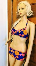VTG 1960s Flower Power BIKINI Bathing Suit High Tide Label Made in California