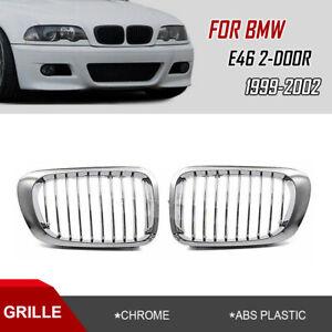 Rein Grille de Calandre Chrome Pour BMW Série 3 E46 Coupé Cabrio 1999-2002 MS