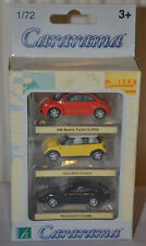 CARARAMA / HONGWELL - CARS SET - VW BEETLE / BMW NEW MINI COOPER / PORSCHE 911