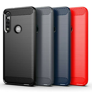 For Motorola Moto G Fast,One 5G UW Ace,G Stylus,Carbon Fiber Soft TPU Cover Case