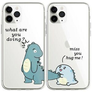 Cute Dinosaur Couple Matching Phone Case For iphone 11 13 12 Pro Max XS 7 8 Plus