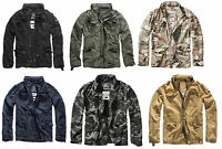 Brandit Britannia Herren Übergangsjacke Vintage Outdoor Sommer Jacke Army Oliv