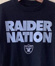 Reebok Raider Nation T-Shirt Size M Black Silver