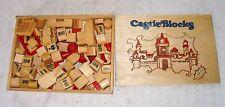 jeu de construction en bois + de  80 piéces castelblocks