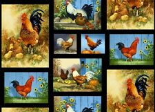 Old Farmstead Roosters By the yard Blank Textiles