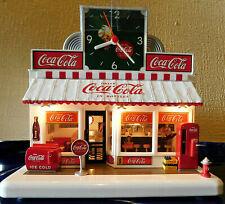 COCA-COLA SODA FOUNTAIN DINER WITH CLOCK DANBURY MINT NEW IN BOX