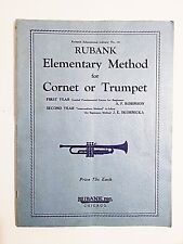 Rubank Elementary Method for Coronet or Trumpet 1st & 2nd Year 1934 1st Edition