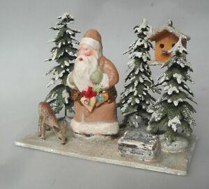 Massefigur Weihnachtsmann Frohes Fest Weihnachten Tischdekoration 1930 Antik