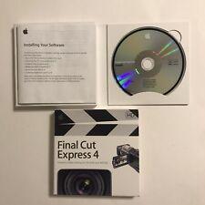 Final Cut Express 4 Retail MB278Z/A For Apple Mac Computer