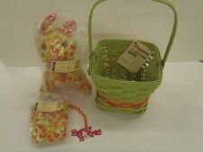 Longaberger 2011 Easter Basket Combo with Liner, tie-on, and Bunny Rabbit New