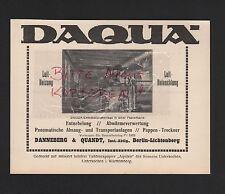 BERLIN-LICHTENBERG, Werbung 1929, Danneberg & Quandt DAQUA