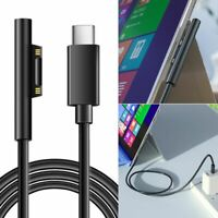 15V USB Type C PD Charger Cable For Microsoft Surface Pro 3 4 5 6 GO Book Laptop