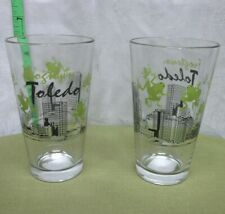 FROGTOWN TOLEDO downtown skyline NWT highball glass Ohio 16 oz. Libbey