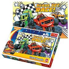 Trefl 100 pezzi per bambini ragazzi Blaze & il mostro MACCHINA GRANDE CAMION Puzzle