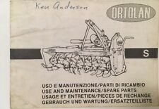 Ortolan Rototiller Use and Maintenance / Spare Parts Manual