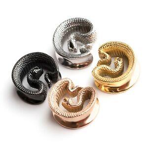 Cobra Snake horseshoe saddle tunnel in Gold, Silver Black & Rose Gold16mm - 25mm