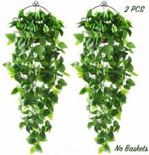 CEWOR 2pcs Artificial Hanging Plants 3.6ft Fake Ivy Vine Fake Ivy Leaves