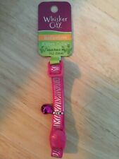 """New listing Kitten breakaway reflective collar with bell, neck sz 6-9 """" by Whisker city"""
