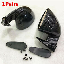 Racing Car Carbon Fiber F1 Style Side Wing Plane Rear View Mirror ABS Color Blue