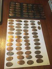 86 Elongated Smashed Souvenir Pennies Penny Theme Park Coin Lot