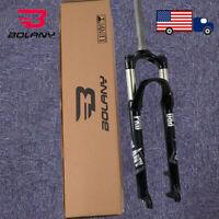 """BOLANY 26/27.5/29"""" MTB Fork Suspension Fork 1-1/8"""" Threadless Disc QR Bike Fork"""